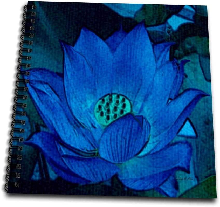 3dRose db_7166_3 Blue Lotus-Mini Notepad, 4 by 4
