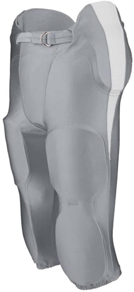 Augusta Sports Adult Medium Silver Grey/White Football Pants