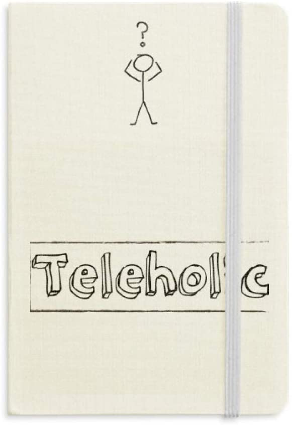 Stylish Word Teleholic Question Notebook Classic Journal Diary A5