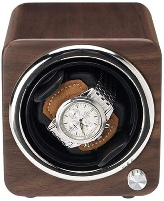 Watch Winder, Unit Watch Top Grade Solid Wood Pattern Matte Lacquer Automatic Watch Winder, Silent Rotating Motor, Anti-Magnetic, 12.5 13.5 13.5 cm Quiet