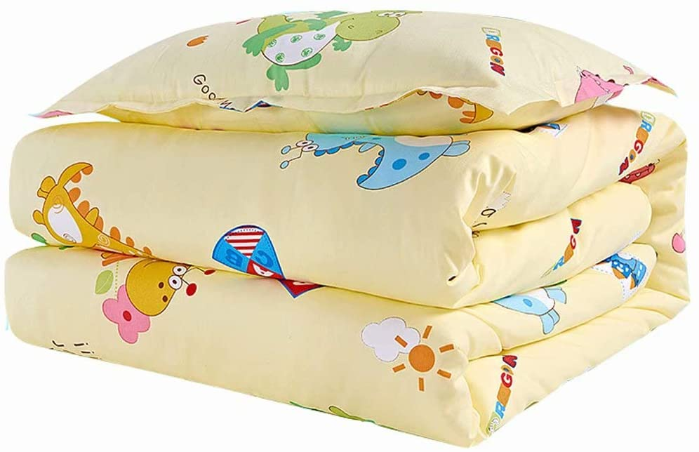 fscz Children's Silk is 100% Silk Baby Baby Child Baby Kindergarten Nap Quilt is Thickened by Autumn and Winter Washable Quilt Cover 120150Cm