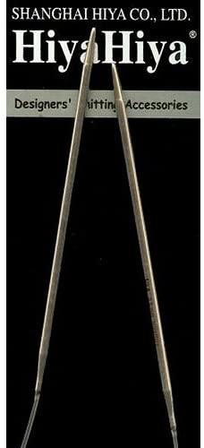 HiyaHiya Circular 24 inch (61cm) Steel Knitting Needle Size US 0000 (1.2mm) HISTCIR24-4-0