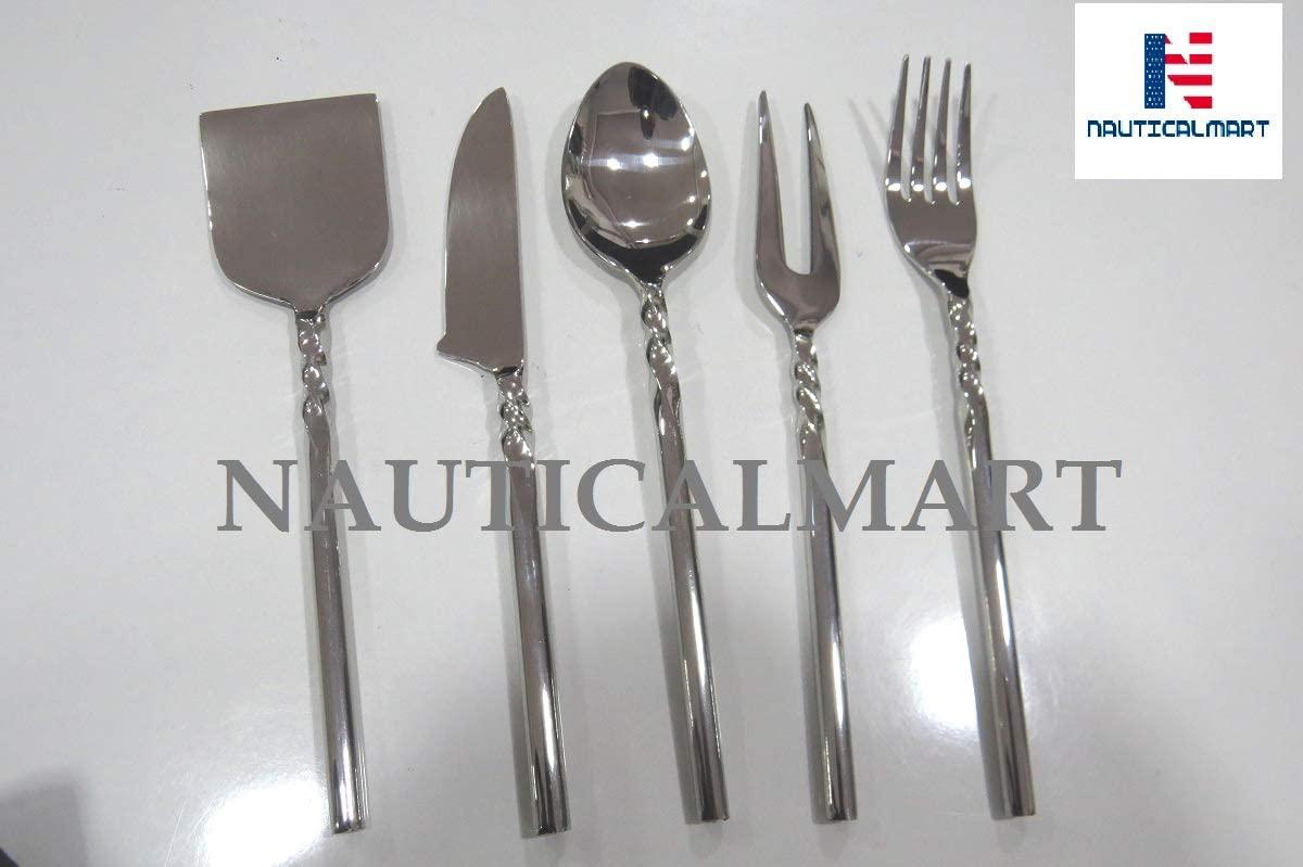 Stainless Steel Flatware Set, Knife Fork Spoon, Travel Camping Cutlery Set, Portable Travel Silverware Set