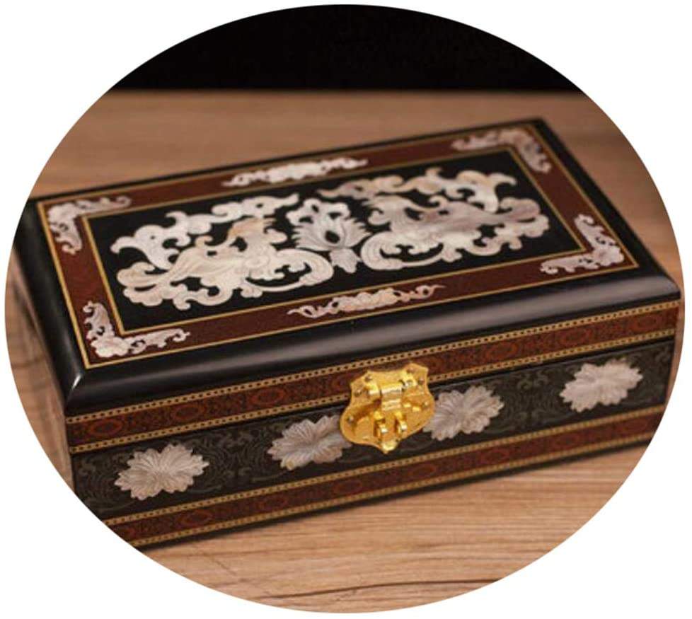 HAIHF Jewellery Box, Hand Painted Lacquer Crafts Jewelry Box, Oriental Chinese Furniture Trinket Box & Gifts