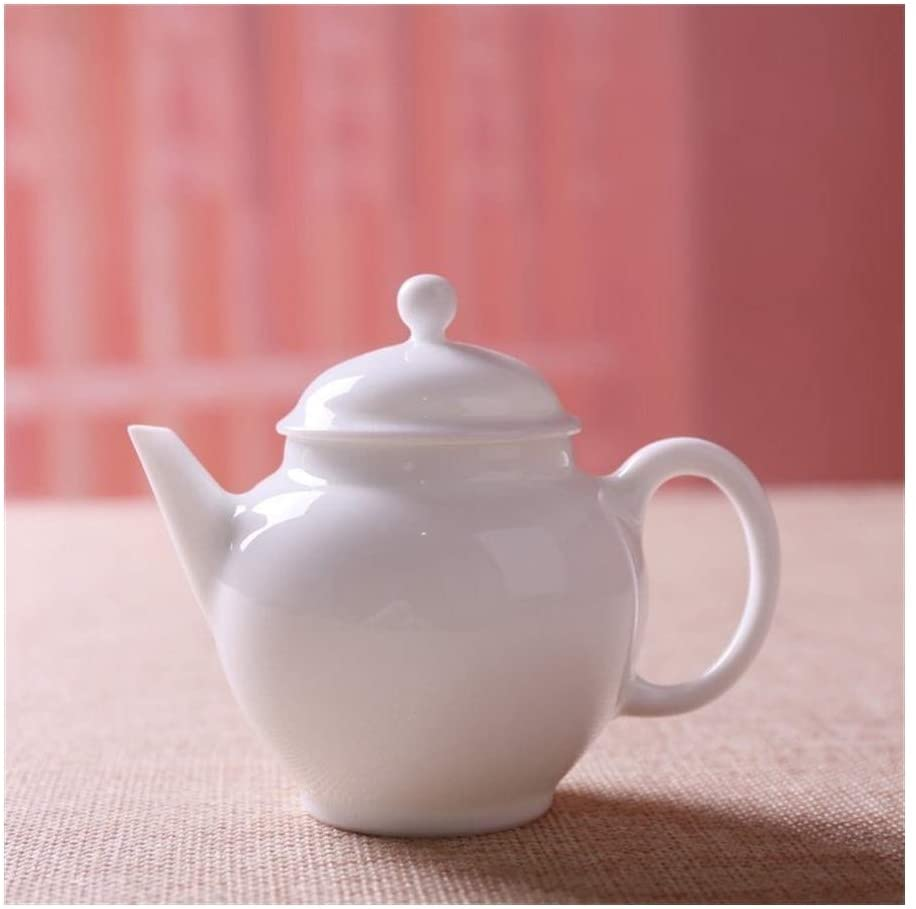 MADONG All hand ceramic teapot kung fu tea set ceramic white small ceramic pot money (Color : Pure white)