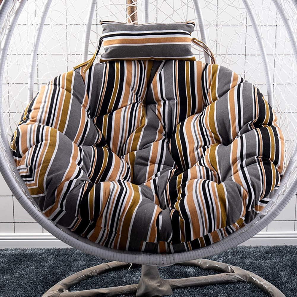 TOPYL Papasan Chair Cushion,Round Egg Nest Chair Cushion,Not Slip Rocking Chair Pad Washable,Basket Cushion Wicker Rattan Swing Pads D Diameter120cm(47inch)