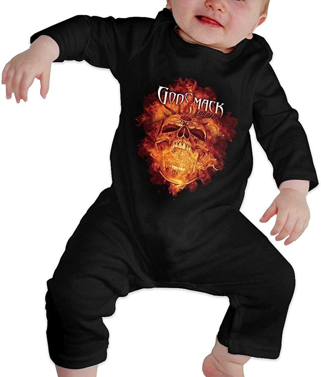 Qq1-asd-store Godsmack Boys/Girls Baby Cotton Long Sleeve Romper Warm Bodysuit