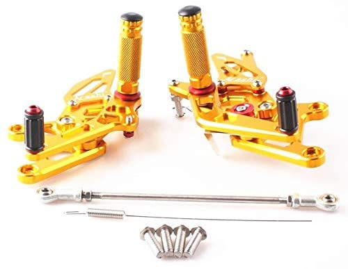 Frames & Fittings for Honda CBR250R 2010 2011 2012 2013 2014 CNC Aluminum Adjustable Rearset Foot Pegs Gold