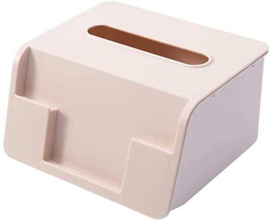 TYZP Nordic Desktop Multifunction Plastic Tissue Box Pumping Tray Storage Box For Home Living Room Coffee Table Restaurant (Color : Khaki)