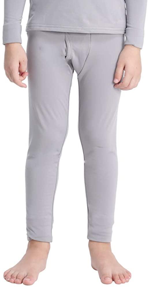 MANCYFIT Thermal Pants for Boys Fleece Lined Leggings Long Underwear Base Layer