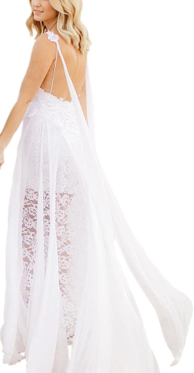 Newdeve White Hot Sleeveless Short Lace Evening Party Prom Beach Wedding Dress