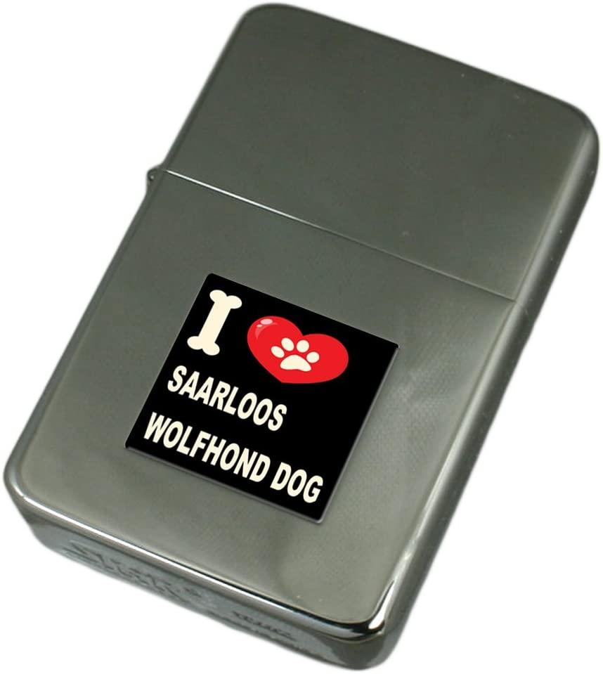 I Love My Dog Engraved Lighter Saarloos Wolfhond