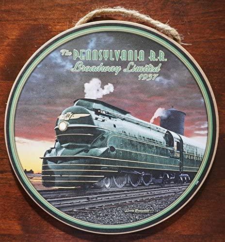 Pennsylvania Railroad 1937 Locomotive Train Steam Engine Round Sign Decor