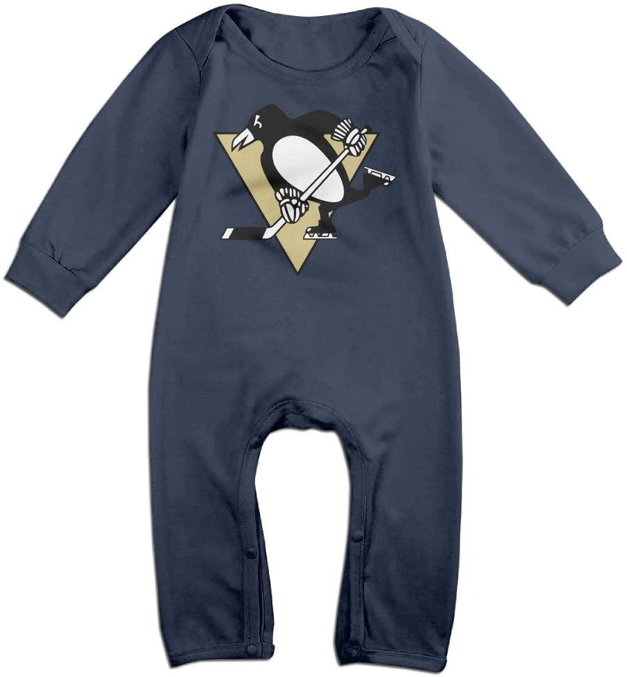 HOHOE Newborn Pittsburgh Ice Hockey Team Long Sleeve Bodysuit Outfits