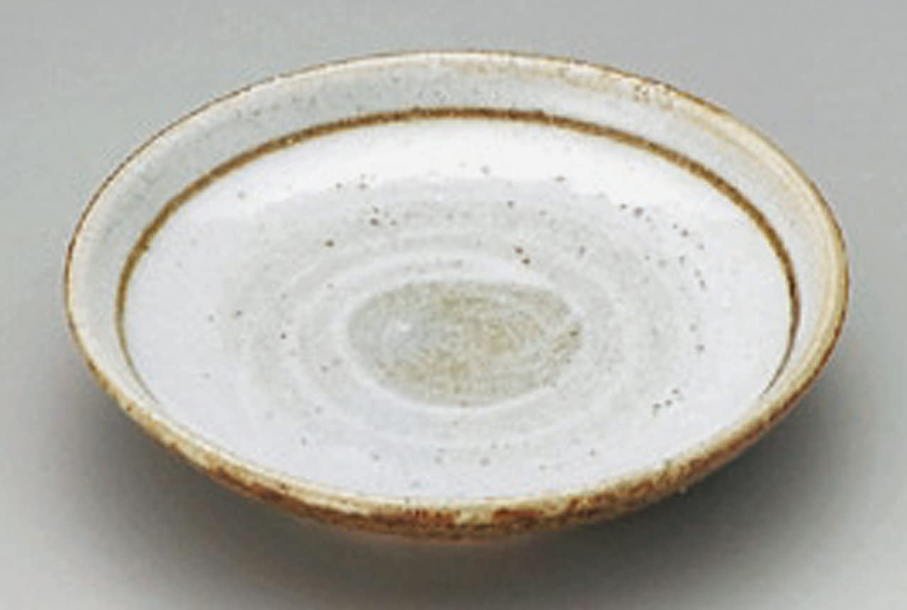 KARATSU-WHITE-BRUSH Jiki Japanese Porcelain Small Plate