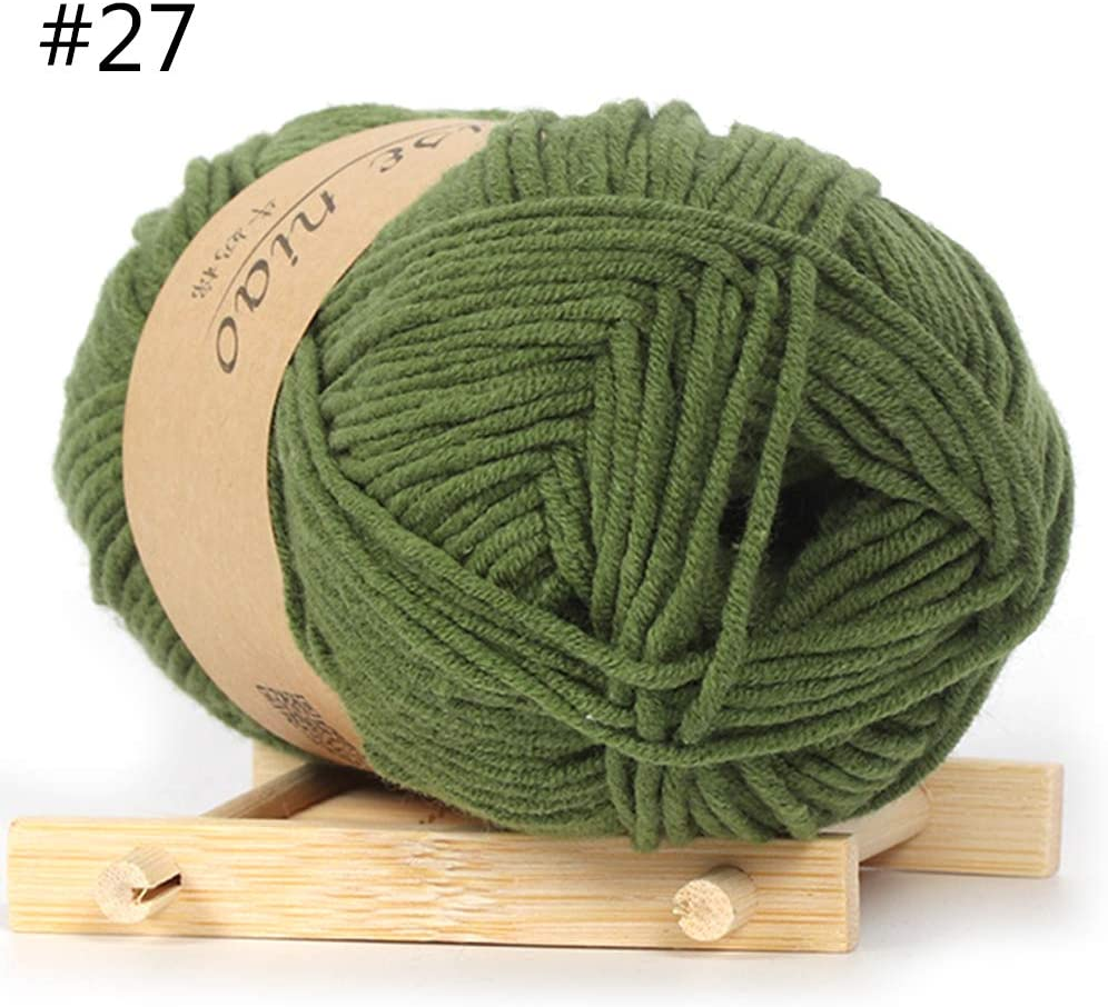 minansostey 50g Hand-Woven 5 Strand Milk Cotton Wool Crochet Thread DIY Handmade Knitted Baby Sweater Hat Scarf