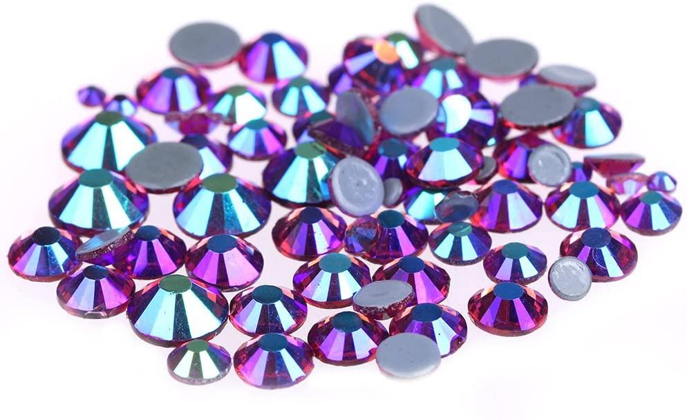 Nizi Jewelry Fushia AB Color Hotfix Rhinestones Strass Glass Gems 3D Nail Art Decorations (SS6 2MM 1440PCS)