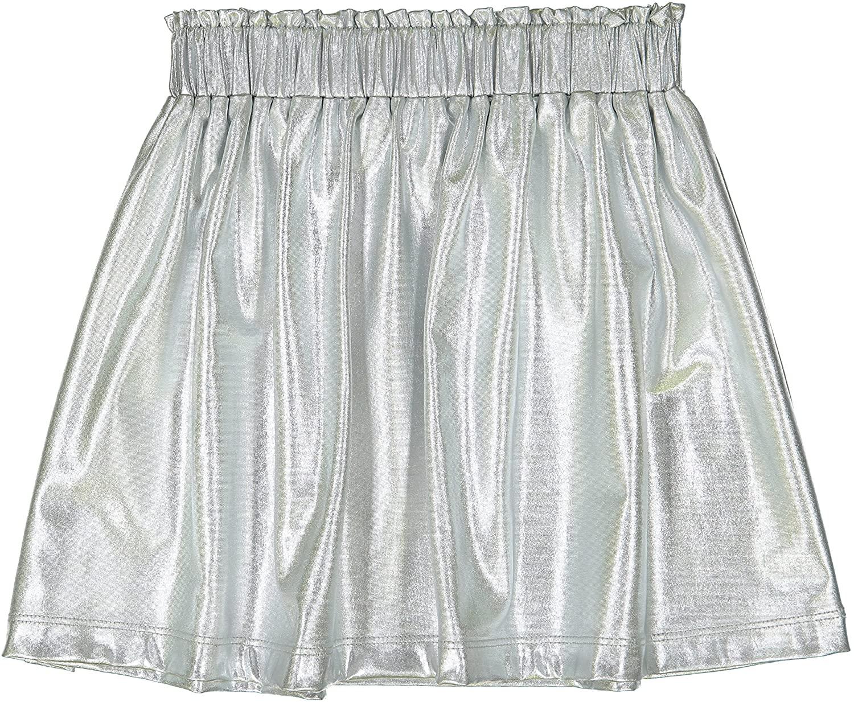 Masala Kids Girls Little Metallic Skirt Silver
