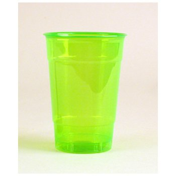Comet Colors Plastic Party Drinking Cup, 16-Ounce, Great Green (500-Count)