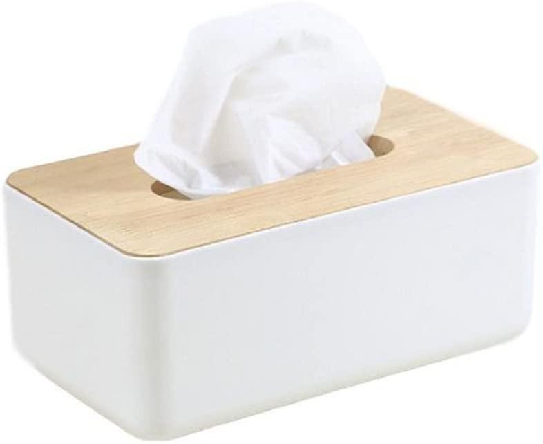 770 Home Wood Top Modern Tissue Box Cover