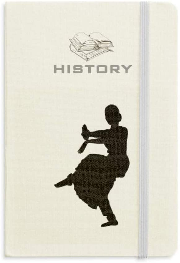 Dancer Art Peacock Dance Sports History Notebook Classic Journal Diary A5