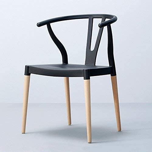 HOMRanger Chair-Nordic Chinese Chairs Solid Wood Backrest Chairs Modern Simple Household Negotiations Tables and Chairs Home Convenient