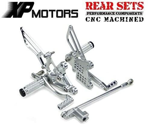 Frames & Fittings Huscus Motorcycle Adjustable Rearset Foot Sets Rear Foot Pegs Footpeg for Honda NSR50 NSR 50 NSF100 NSF 100 All Years - (Color: Silver)