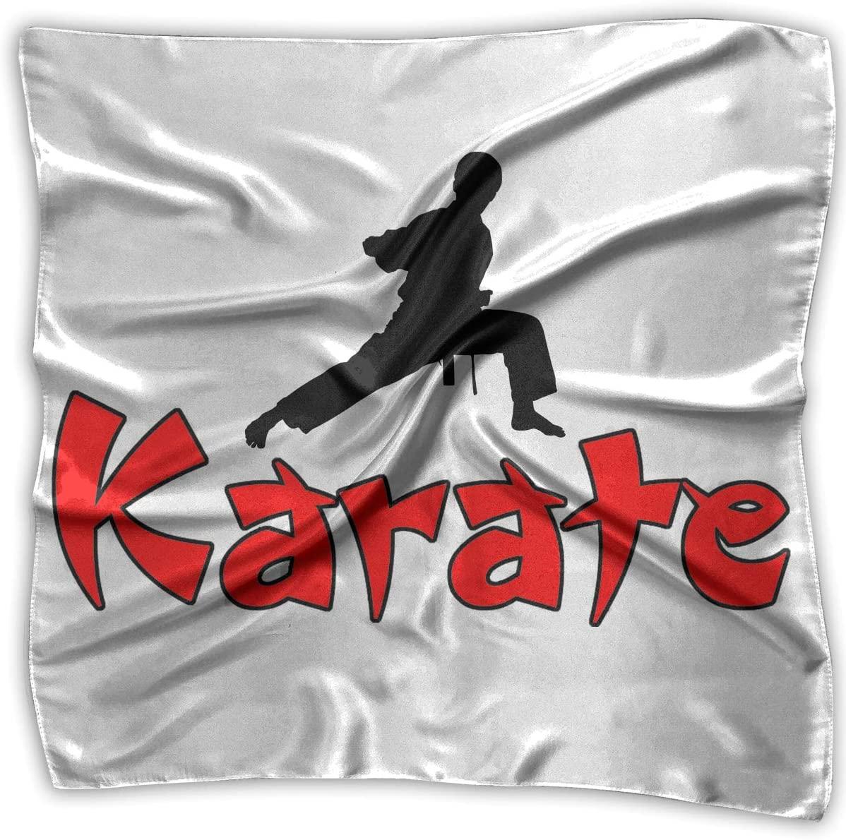 WFIRE Karate Square Handkerchiefs Scarf Shawl Bandanas Headscarf Neckerchief Tie Hair Scarf