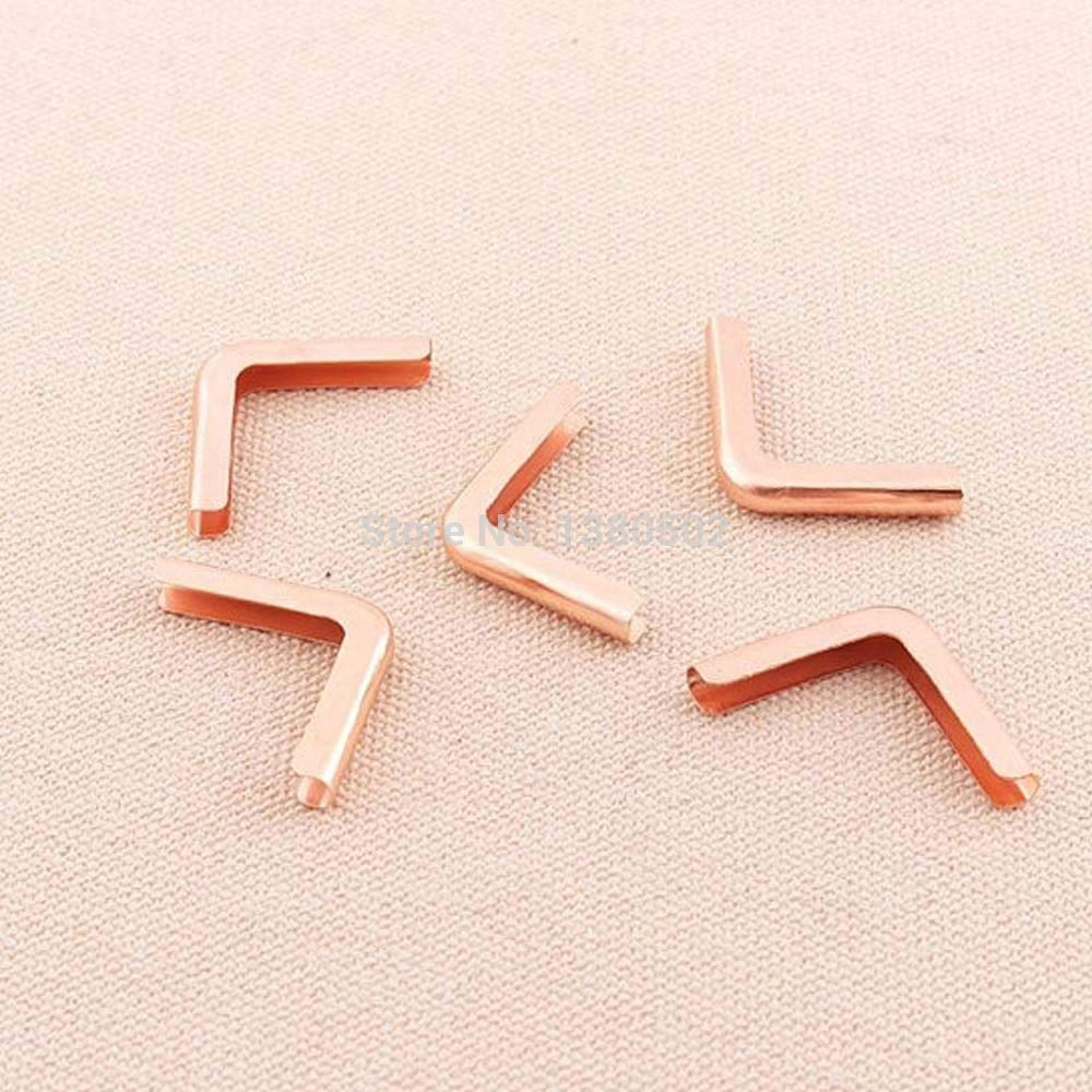 Natsus 30Pcs/Lot Rose Gold Color Metal Scrapbooking Menu Book Corner Protectors DIY Accessories
