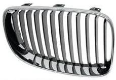 BMW e82 e88 radiator Kidney Grille (R) Chrome+Black OEM right passenger side