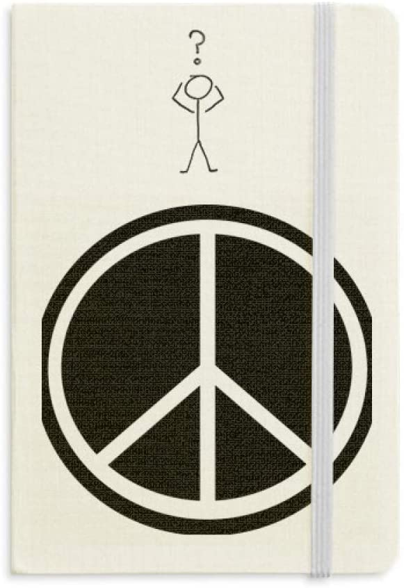 Peace Symbol Nuclear Anti-war Pattern Question Notebook Classic Journal Diary A5