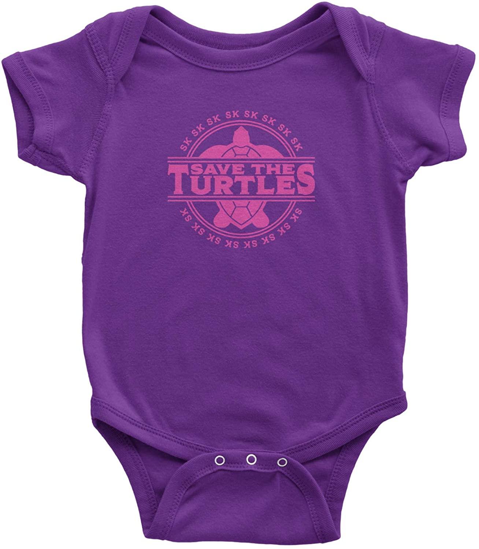 Expression Tees Save The Turtles Sksksksk Infant One-Piece Romper Bodysuit