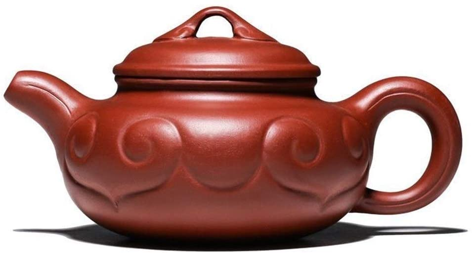 MADONG Wishful teapot Big Red mud handmade flower pot tea (Color : Red)