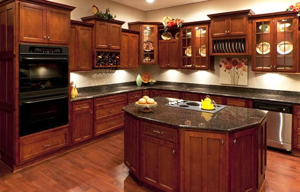 L&D Renovations 10 x 10 Kitchen Cabinets (Shaker Cognac)