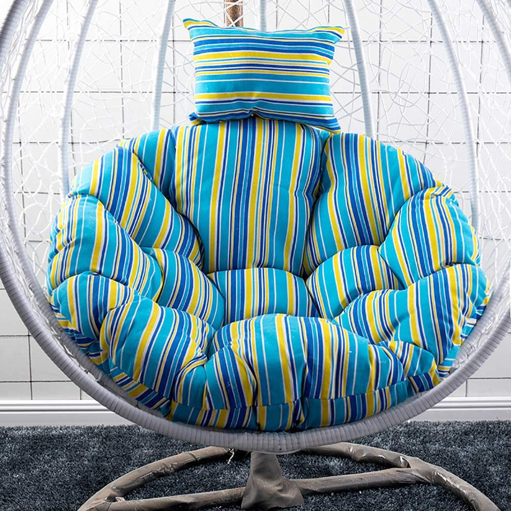 TOPYL Papasan Chair Cushion, Pure 100% Cotton Duck Fabric - Fits 45inch Round Chair - Chair Not Included, Soft Round Overstuffed Chair Cushionsm V Diameter105cm(41inch)