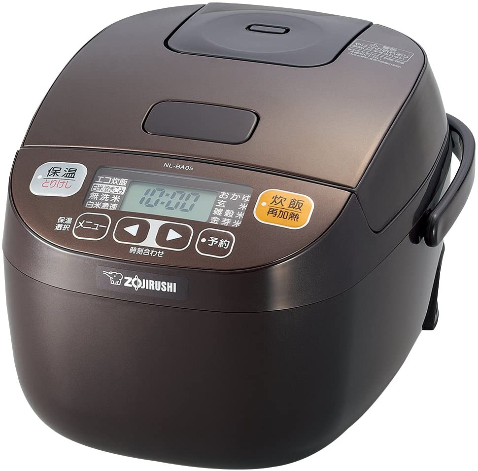 Zojirushi Rice Cooker Microcomputer Formula - 3 People - Brown NL-BA05-TA (Japan Import)