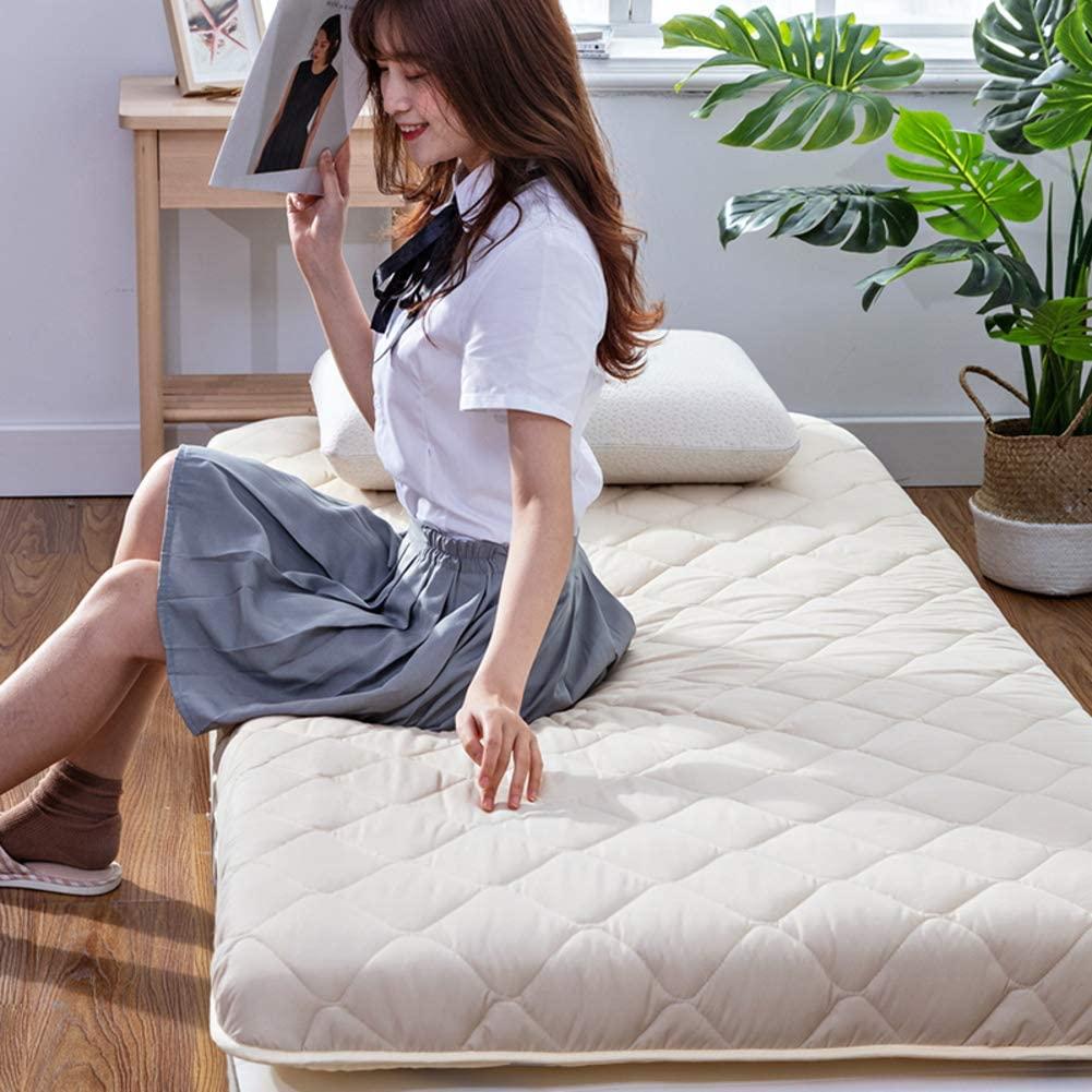 AMYDREAMSTORE Thicken Tatami Floor Mattress,Breathable Futon Tatami Mattress Pad Sleeping Breathable Floor Mat Portable Student Dormitory Mattress-c 120x190cm(47x75inch)