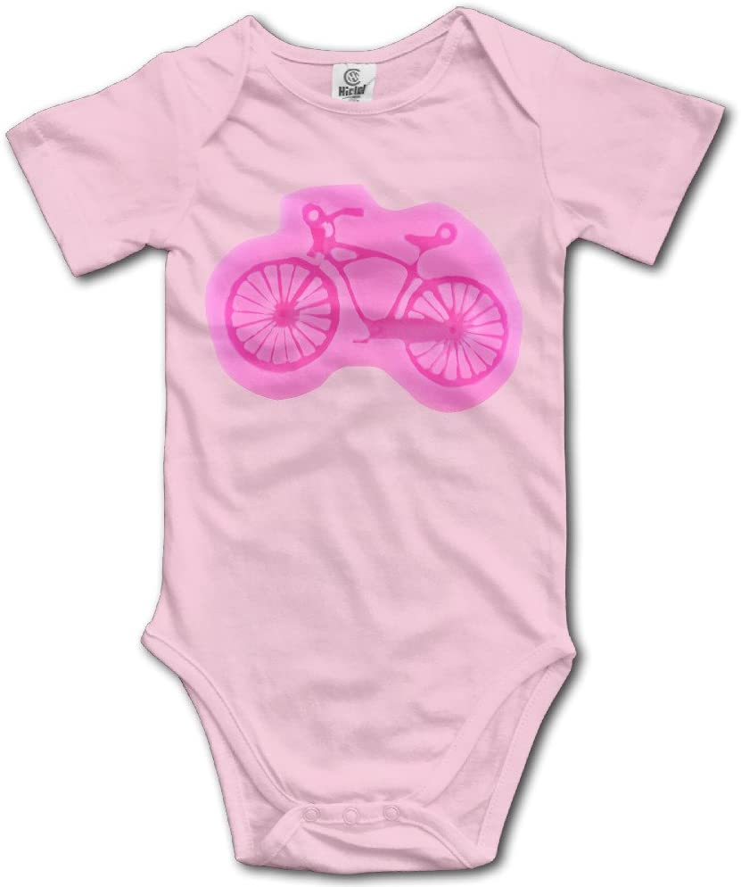 GMRLOVE Lovely Bicycle Short-Sleeve Romper Jumpsuit For 6-24 Months Toddler Pink
