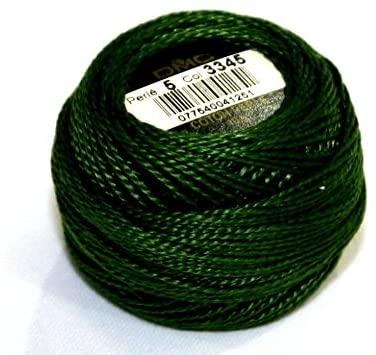 DMC Cotton Perle Thread Size 5 3345 - per 10 Gram Ball