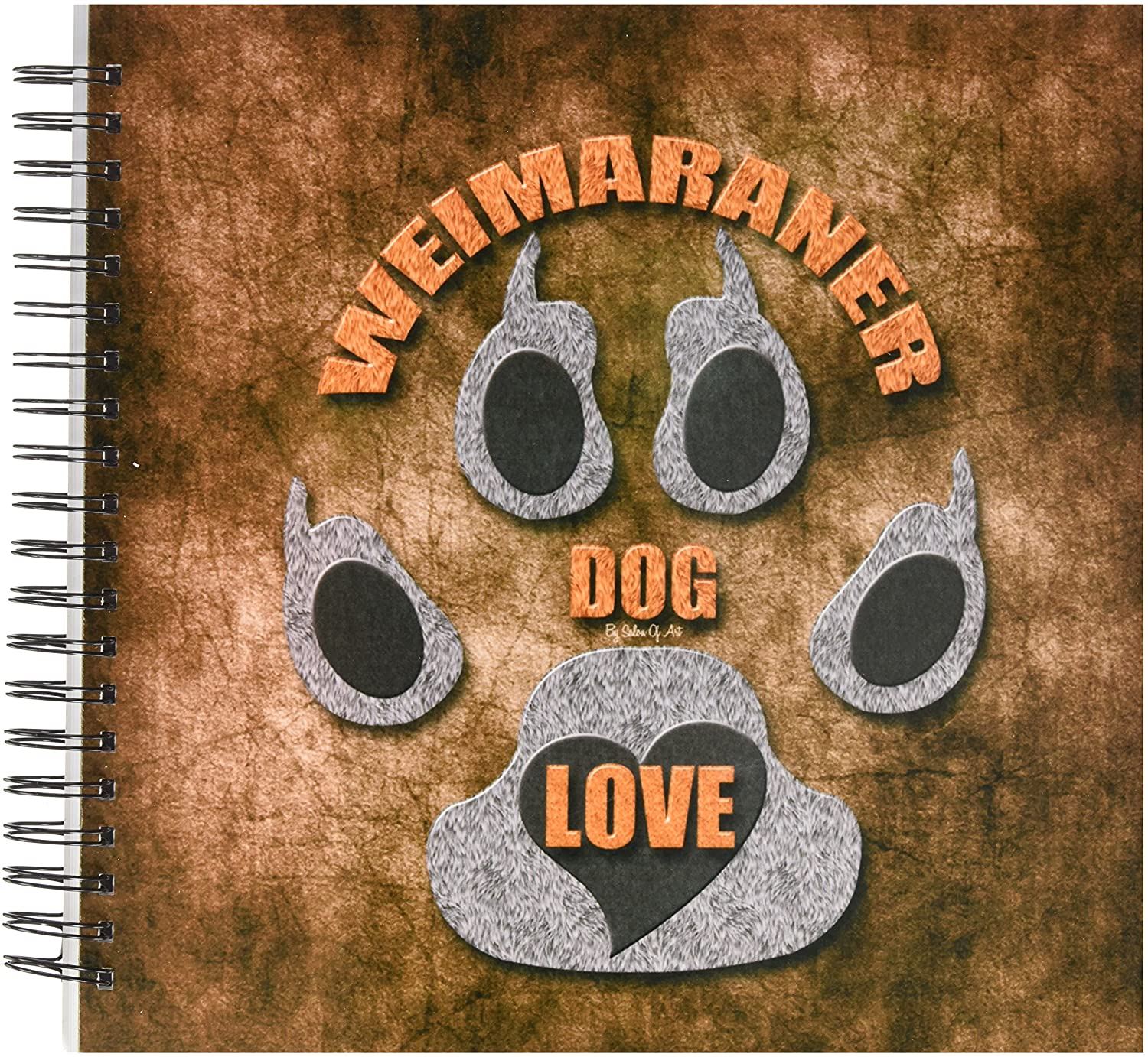 3dRose db_22118_2 Weimaraner Dog Love Dog Breed in Gray and Brown Memory Book, 12 by 12-Inch