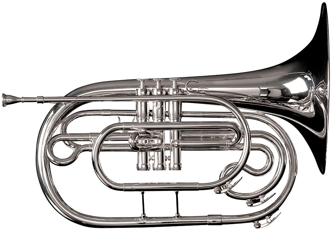 Adams Marching French Horn w/case, Silver (MF1S)