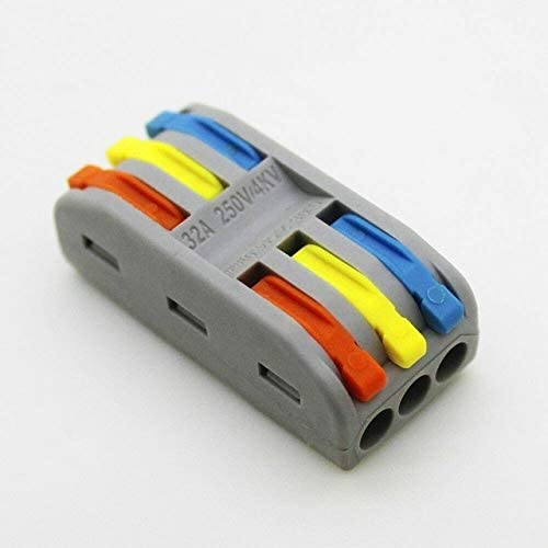 Davitu Electrical Equipments Supplies - 10pcs Wire Connector Electrical Multifunction Plug-In Universal Terminals Quick Docking Insulation Press Type Home Lightweight - (Color: SPL 3)