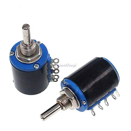 2pcs/lot WXD3-13-2W 3.3K ohm 3K3 WXD3-13 2W Rotary Side Rotary Multiturn Wirewound Potentiometer