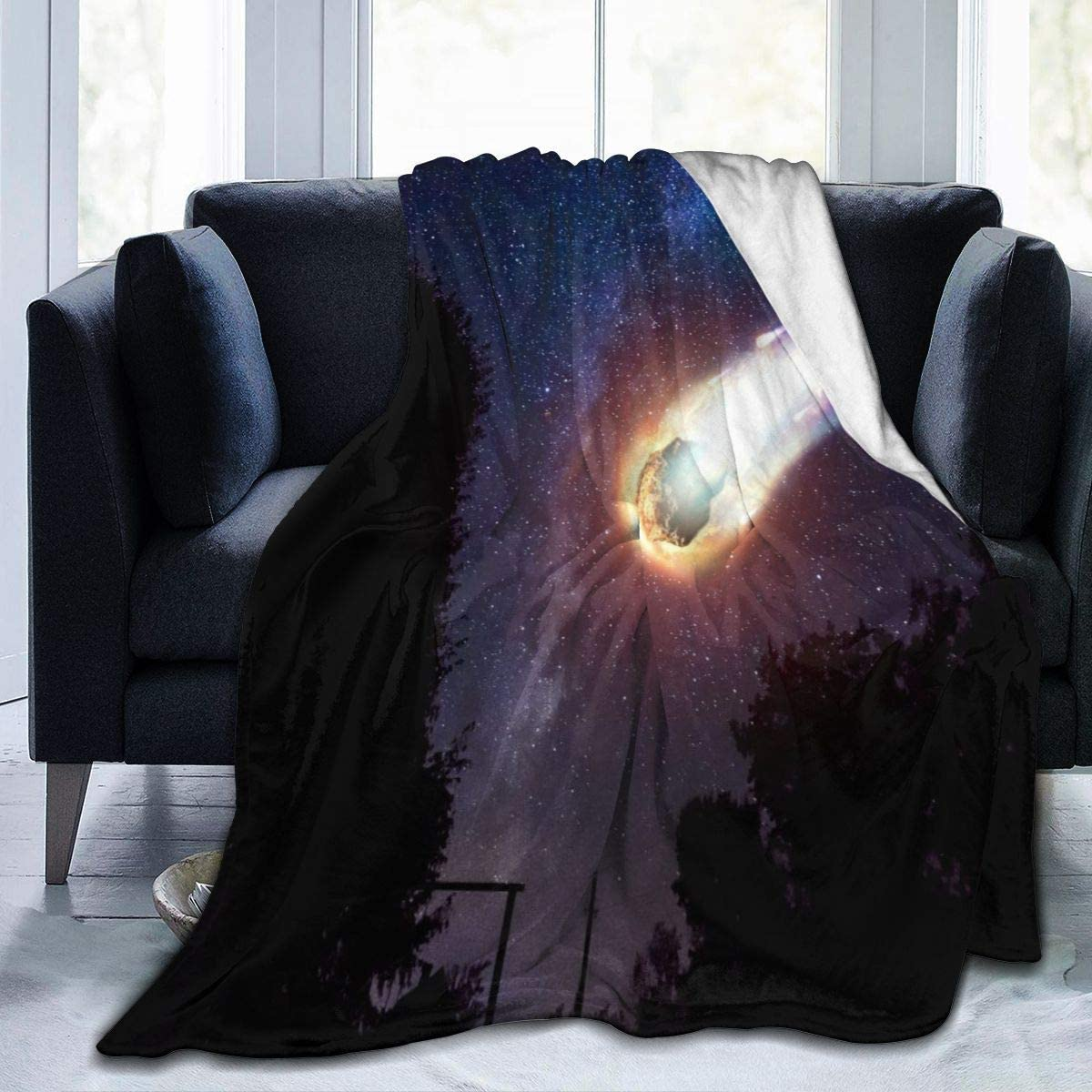 Micro Fleece Plush Soft Baby Blanket Comet Asteroid Galaxy Fluffy Warm Toddler Bed/Crib Blanket Lightweight Flannel Daycare Nap Kids Sleeping Tummy Time Throw Blanket Girls Boy Clearance Kid/Baby