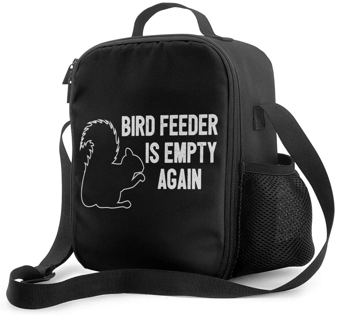 Bird Feeder Is Empty Agin Portable Thermal Insulation Lunch Bag Picnic Bag Thickened Travel