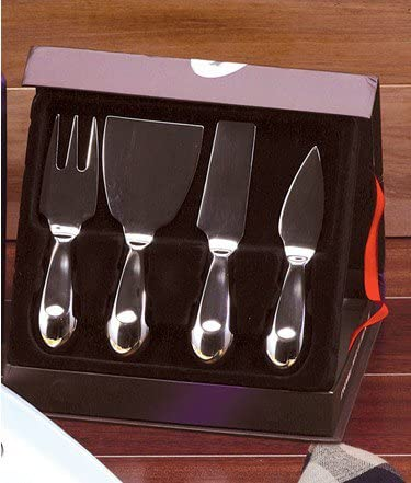 Danesco 8314105 4-Piece Stainless Steel Cheese Set