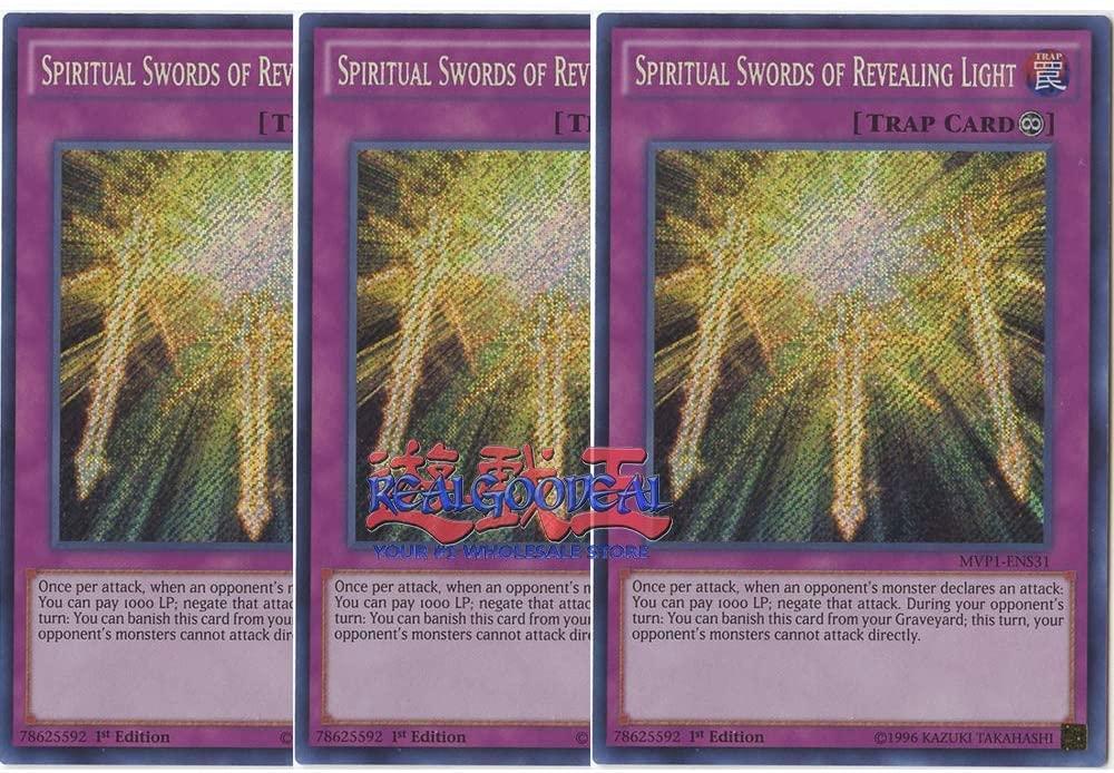 x3 Spiritual Swords of Revealing Light - MVP1-ENS31 - Secret Rare - 1st Edition