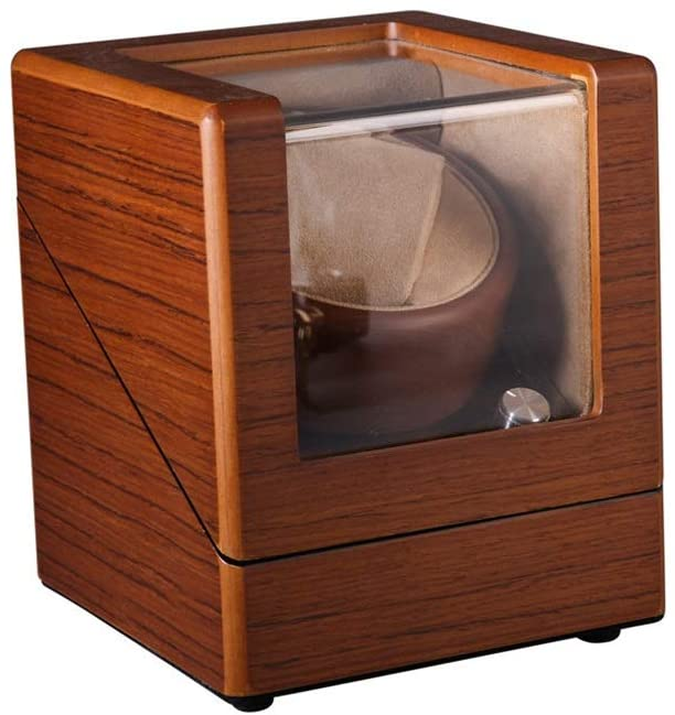 WZ Single Automatic Watch Winder Box, 4 Rotation Mode Setting, Solid Wood Matt Paint Appearance, Extremely Silent Motor