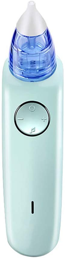 Baby Nasal Aspirator Electric Nose Cleaner, 7-Speed Adjustment, Built-in Music, USB Charging,Green