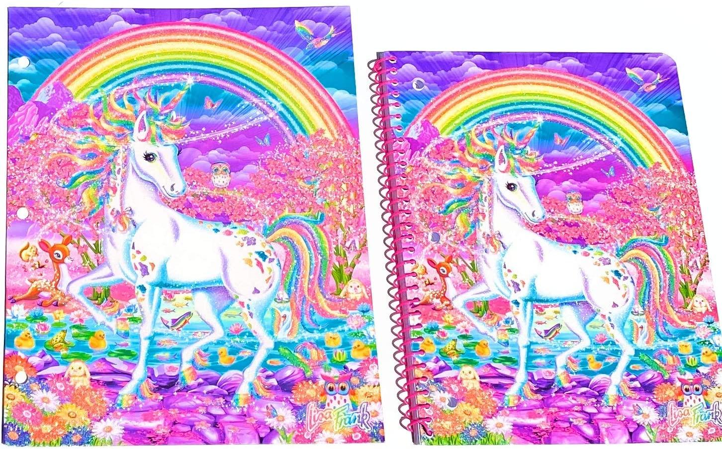 Innovative Designs Lisa Frank Notebook & Folder Bundle (Uncorn)